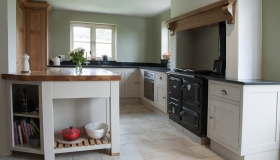 European Oak and Painted Kitchen