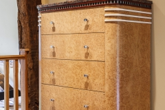 Art Deco Burr Oak Gentleman's Wardrobe and Bathroom